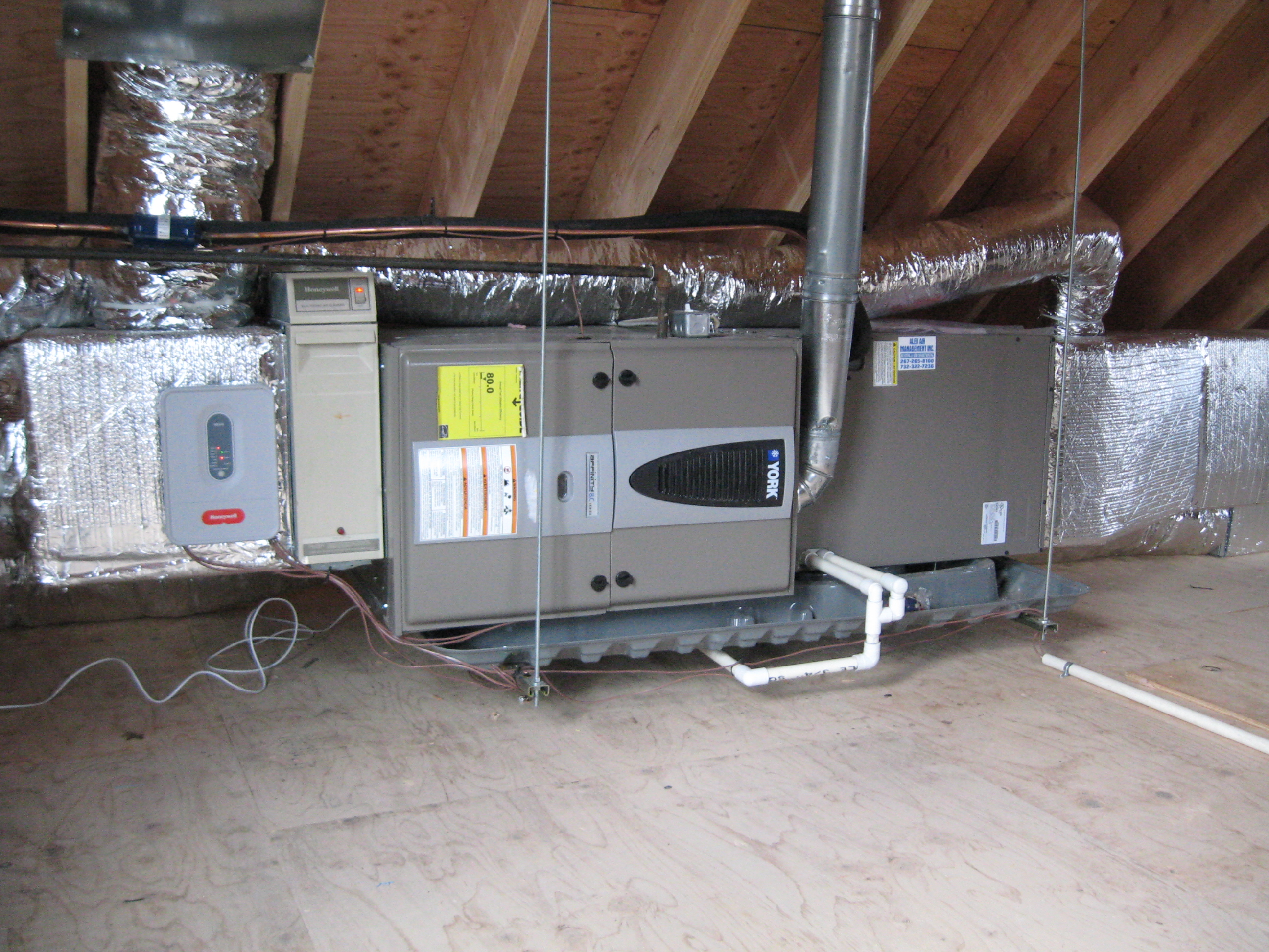 Attic_hvac installation air handler how to install hephh com coolers, devices & air Attic Air Handler Installation at mifinder.co